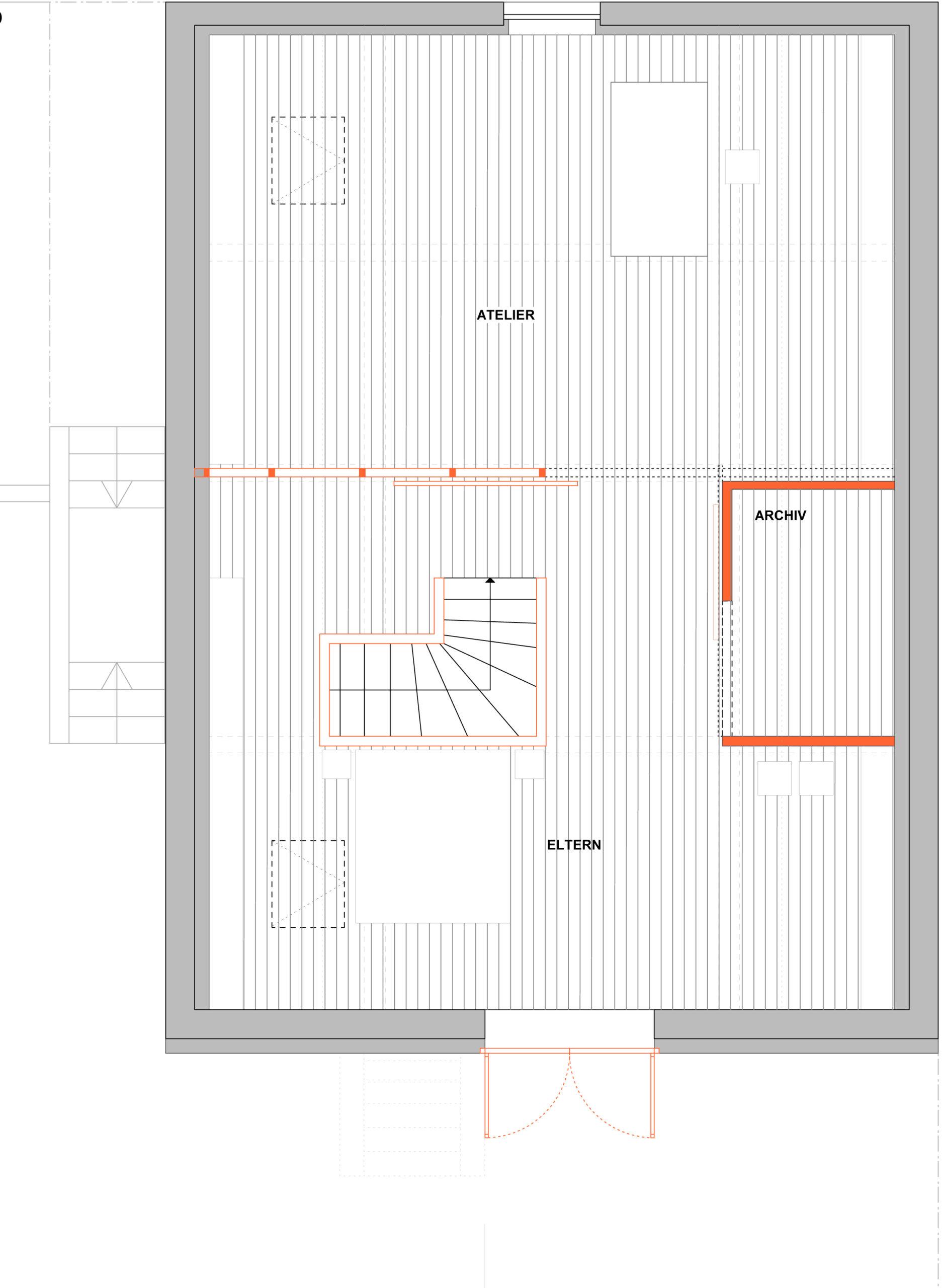 052_Wohnhaus Tovar mit Büro_Grundriss Dachgeschoss_FFM-ARCHITEKTEN