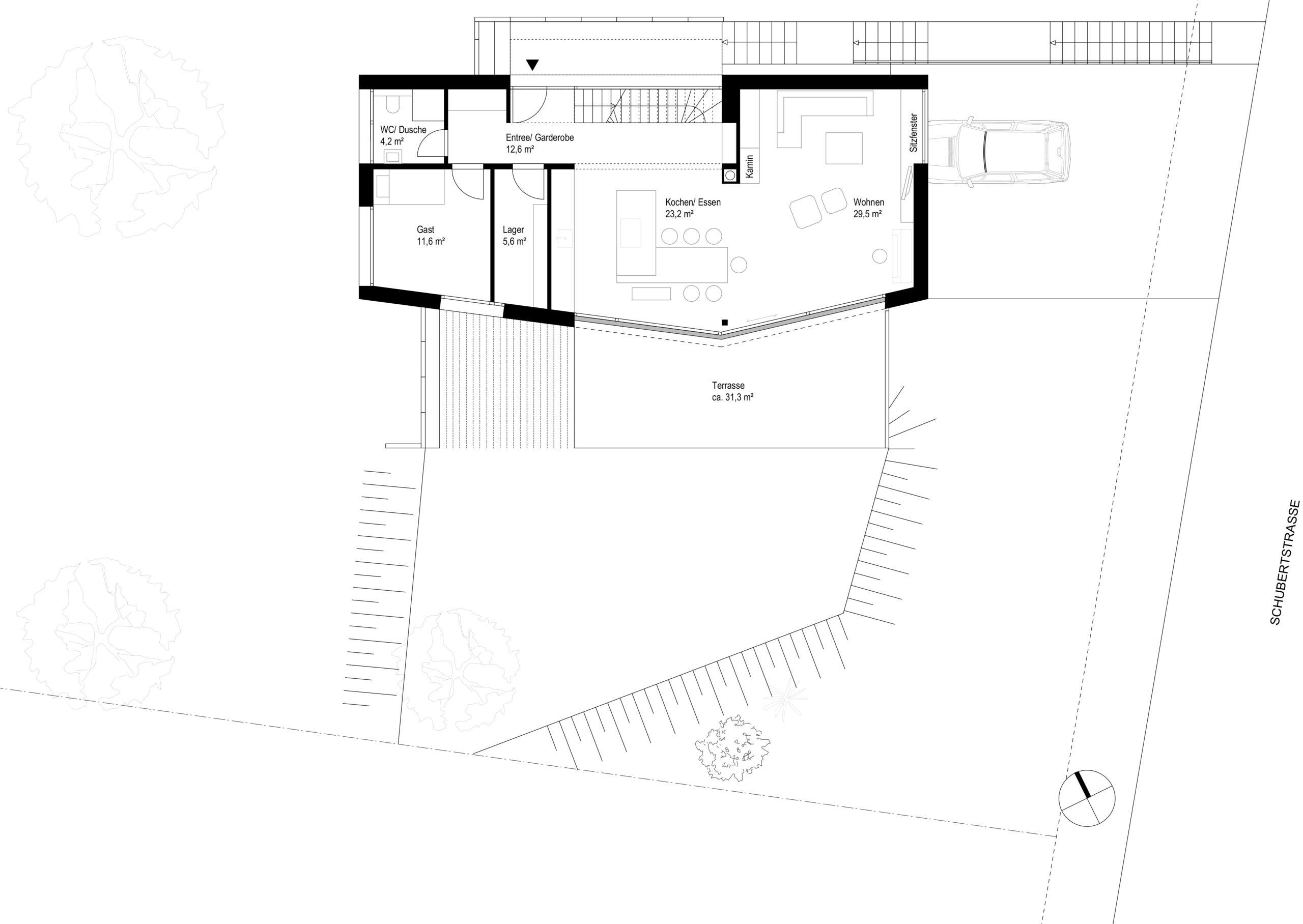 235 Grundriss Erdgeschoss FFM-ARCHITEKTEN