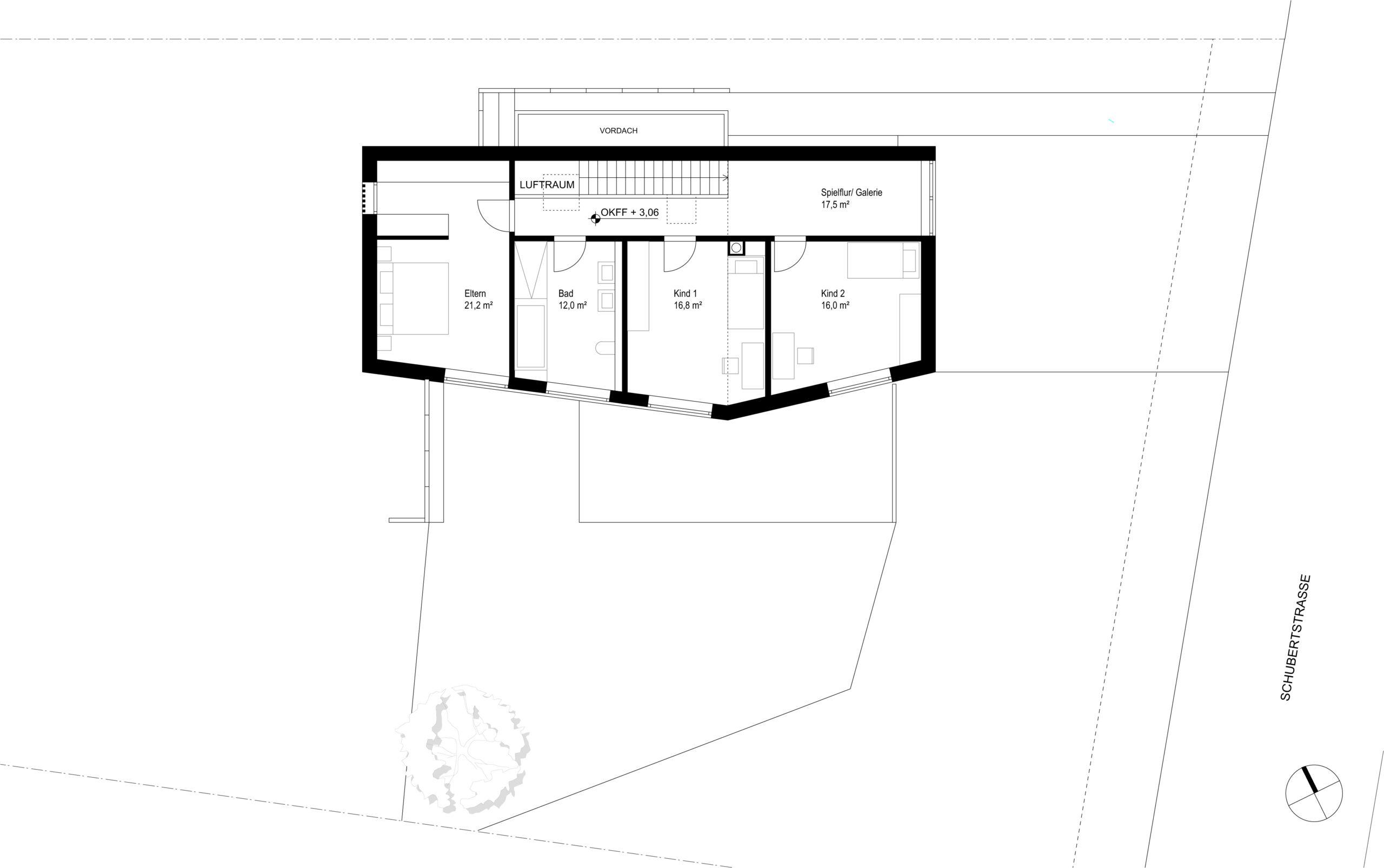 235_Wohnhaus D_Grundriss Obergeschoss_FFM-ARCHITEKTEN