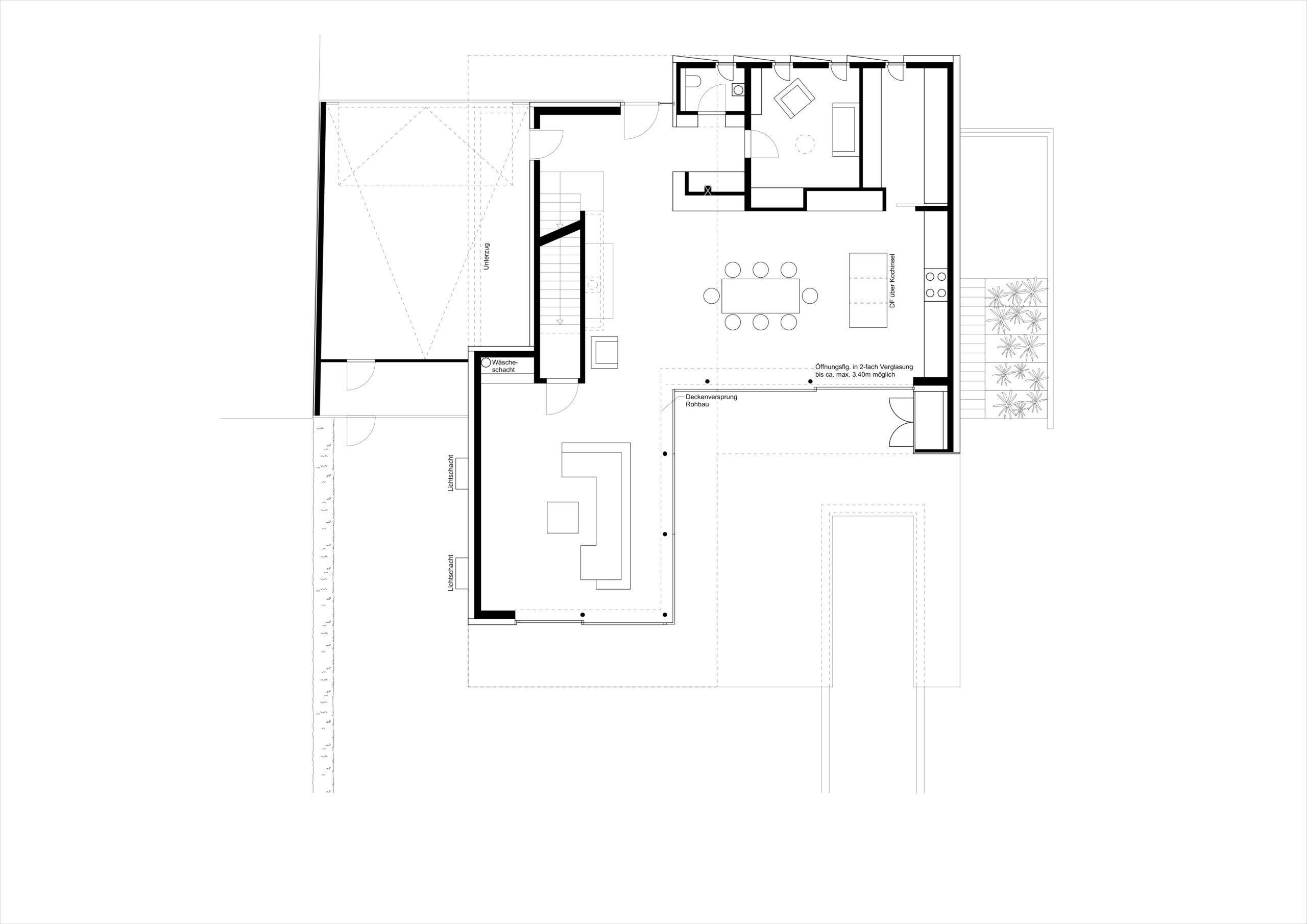 Grundriss Erdgeschoss Villa M FFM-ARCHITEKTEN