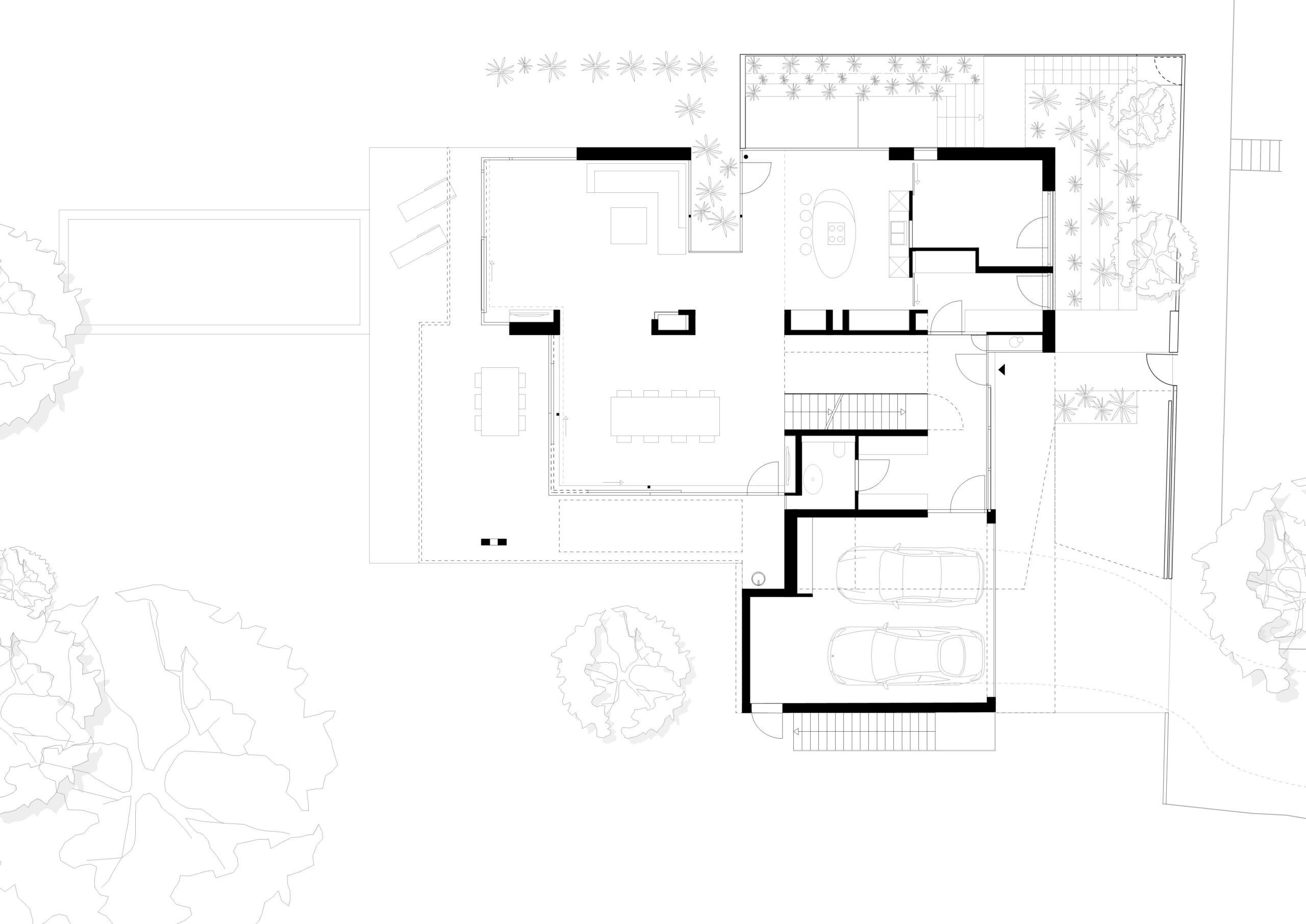 296_Villa P_Grundriss Erdgeschoss_FFM-ARCHITEKTEN