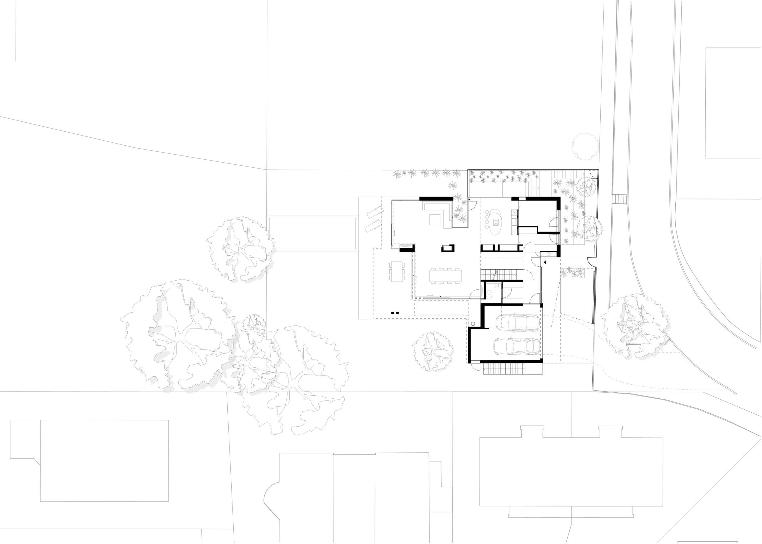 296_Villa P_Lageplan_FFM-ARCHITEKTEN