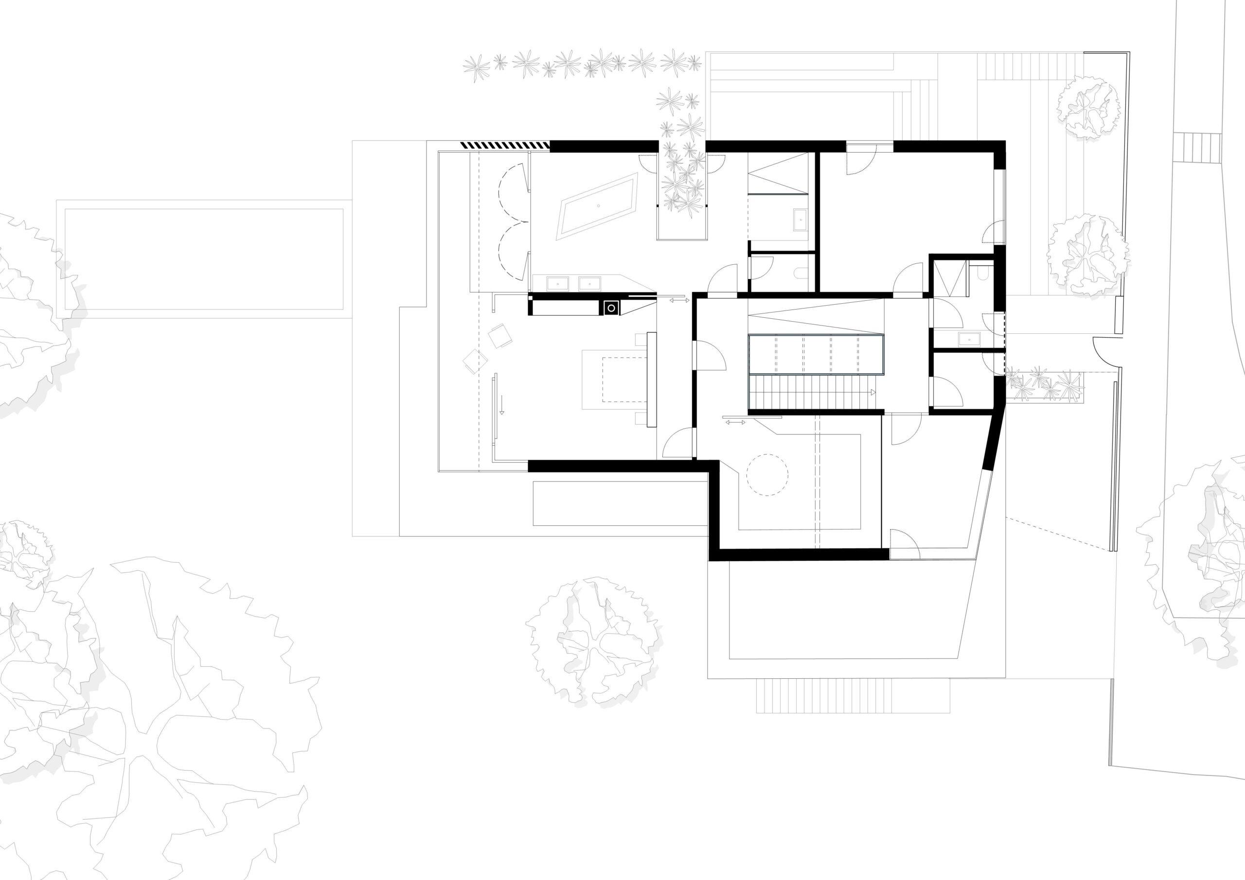 296_Villa P_Grundriss Obergeschoss_FFM-ARCHITEKTEN