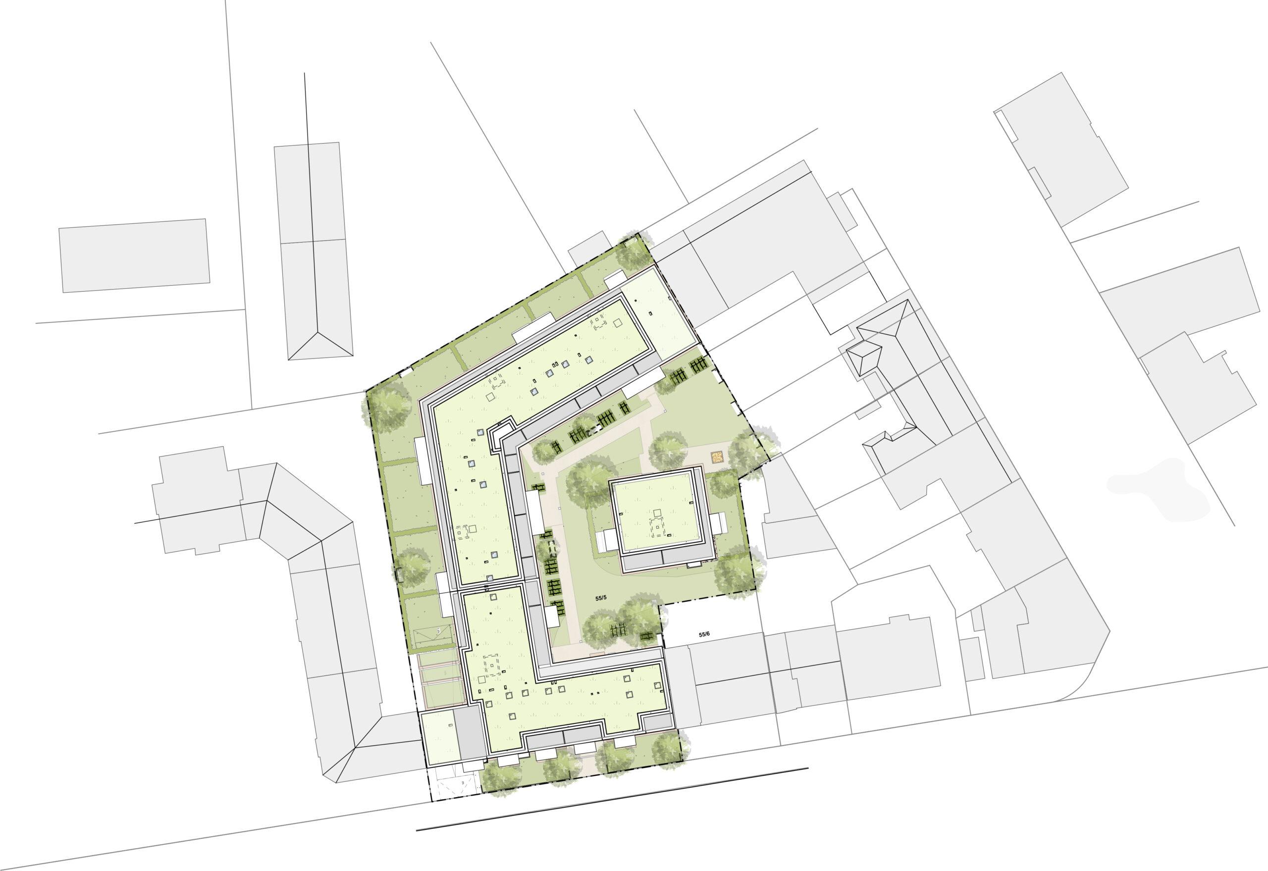 Lageplan 350 Frankenallee FFM-ARCHITEKTEN