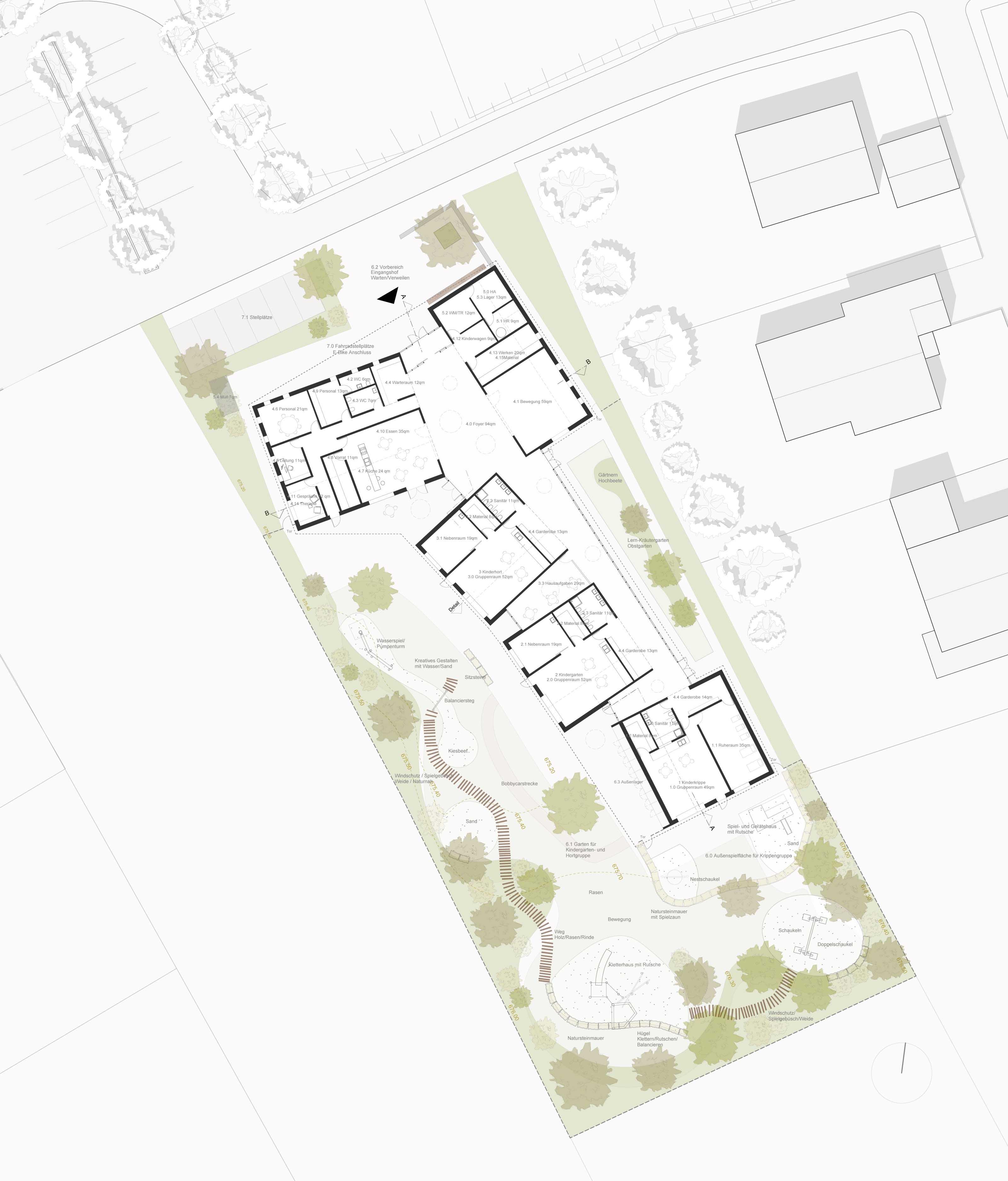 315 Lageplan Kinderhaus Starnberg Perchting FFM-ARCHITEKTEN