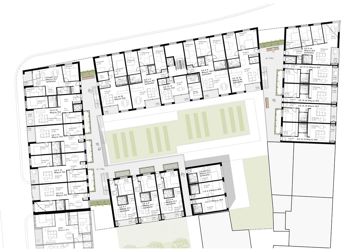 347 Grundriss 1. / 2. / 3. Obergeschoss