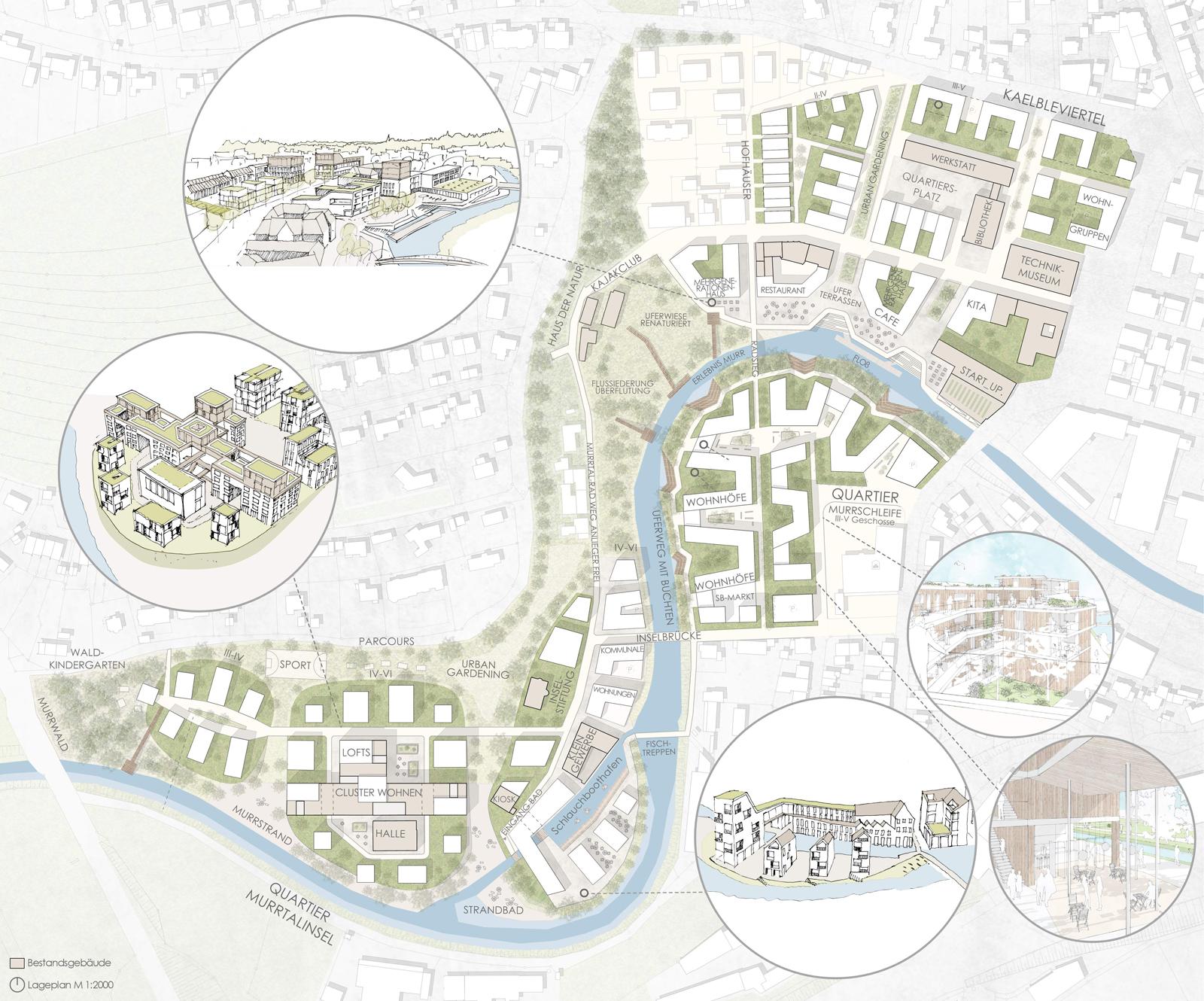 kompletter Lageplan Quartier Backnang West - Murr-Inseln