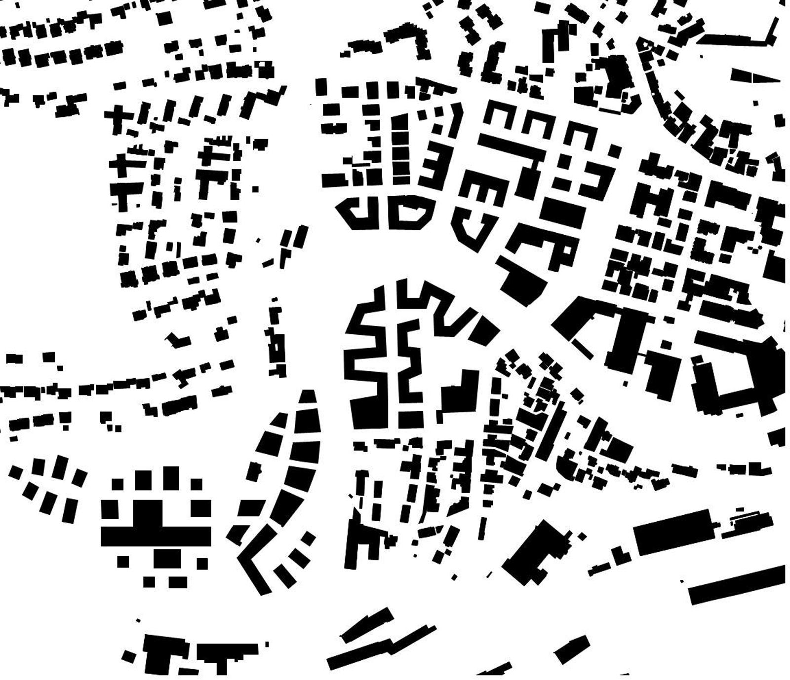 Piktogramm Schwarzplan - Quartier Backnang West - Murr-Inseln