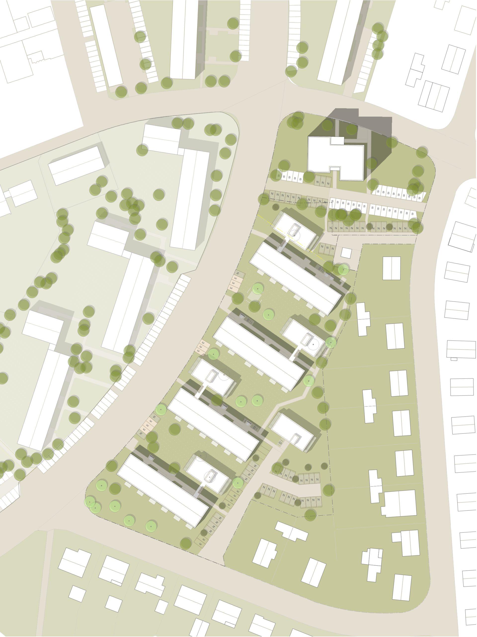 Lageplan Hessenring Rüsselsheim FFM-ARCHITEKTEN