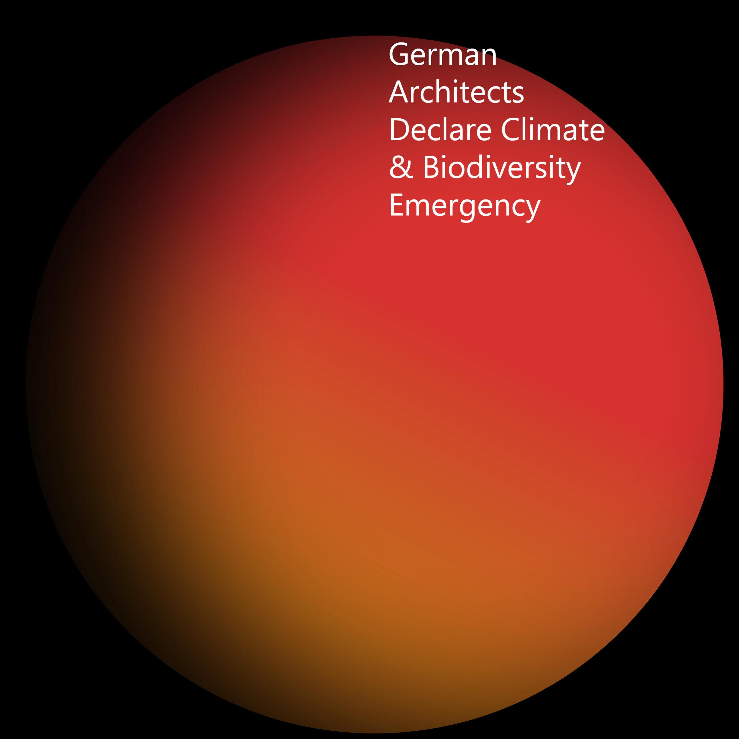 Logo German Architects Declare Climate & Biodiversity Emergency FFM-ARCHITEKTEN