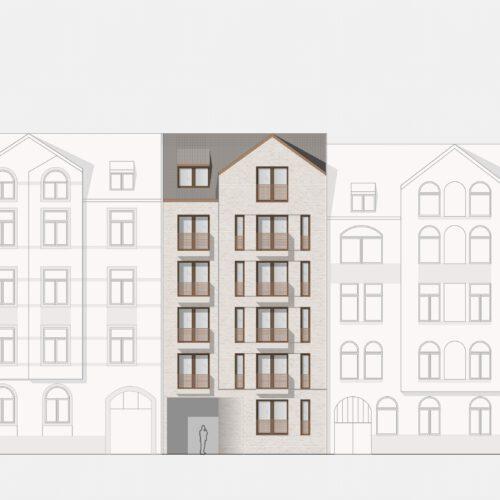 Ansicht Haus 4 359 Projekt Gabelsberger Straße Offenbach FFM-ARCHITEKTEN