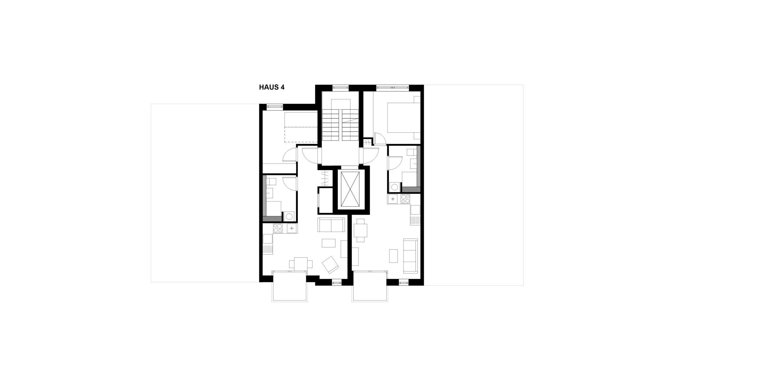 Grundriss Regelgeschoss Haus 4 359 Projekt Gabelsberger Straße Offenbach FFM-ARCHITEKTEN
