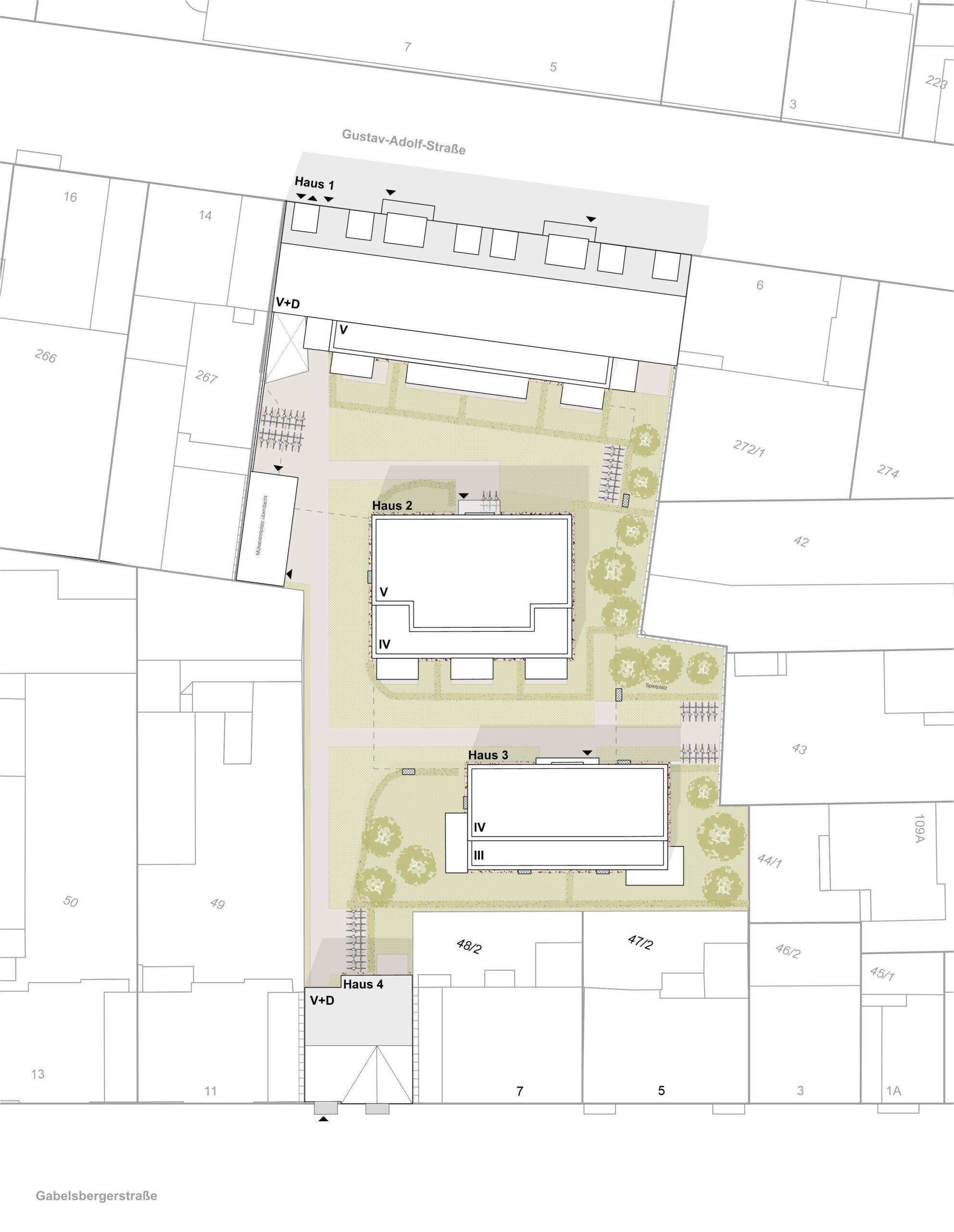 Lageplan 359 Projekt Gabelsberger Straße Offenbach FFM-ARCHITEKTEN