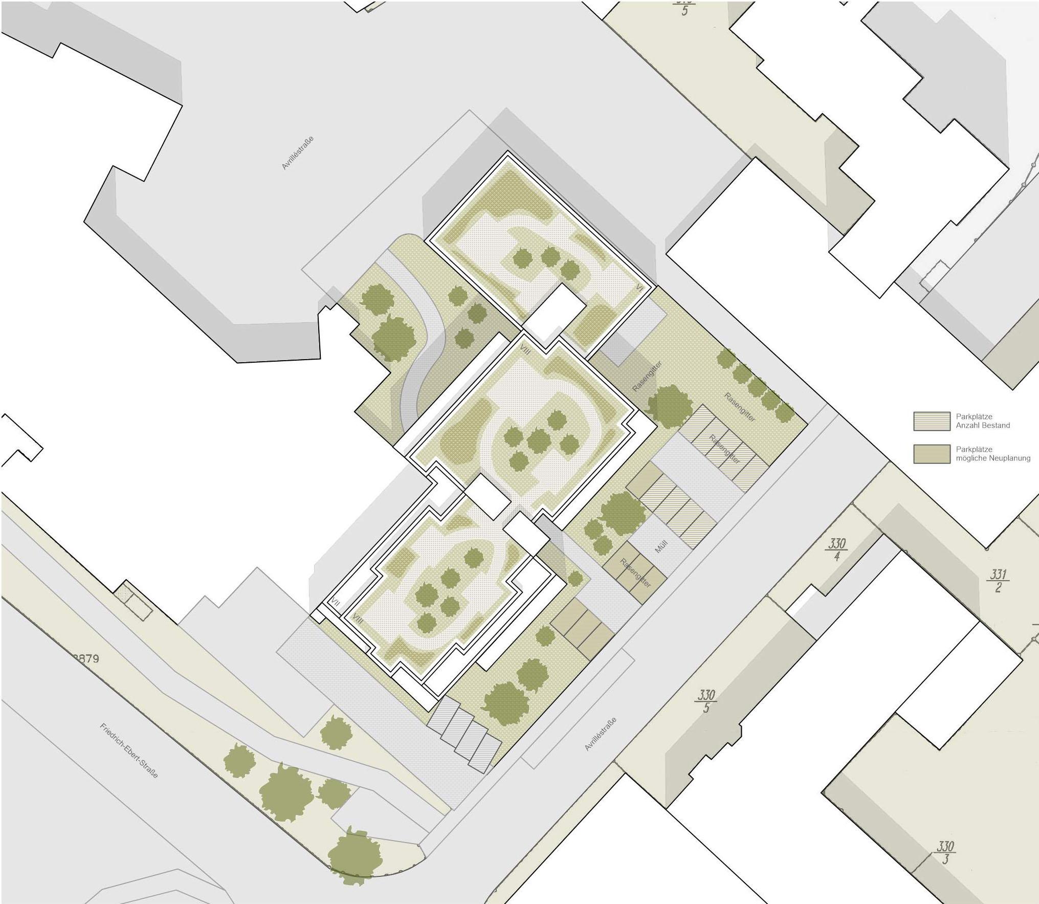 Projekt 377 Avrilléstraße Marktplatz Schwalbach Lageplan FFM-ARCHITEKTEN