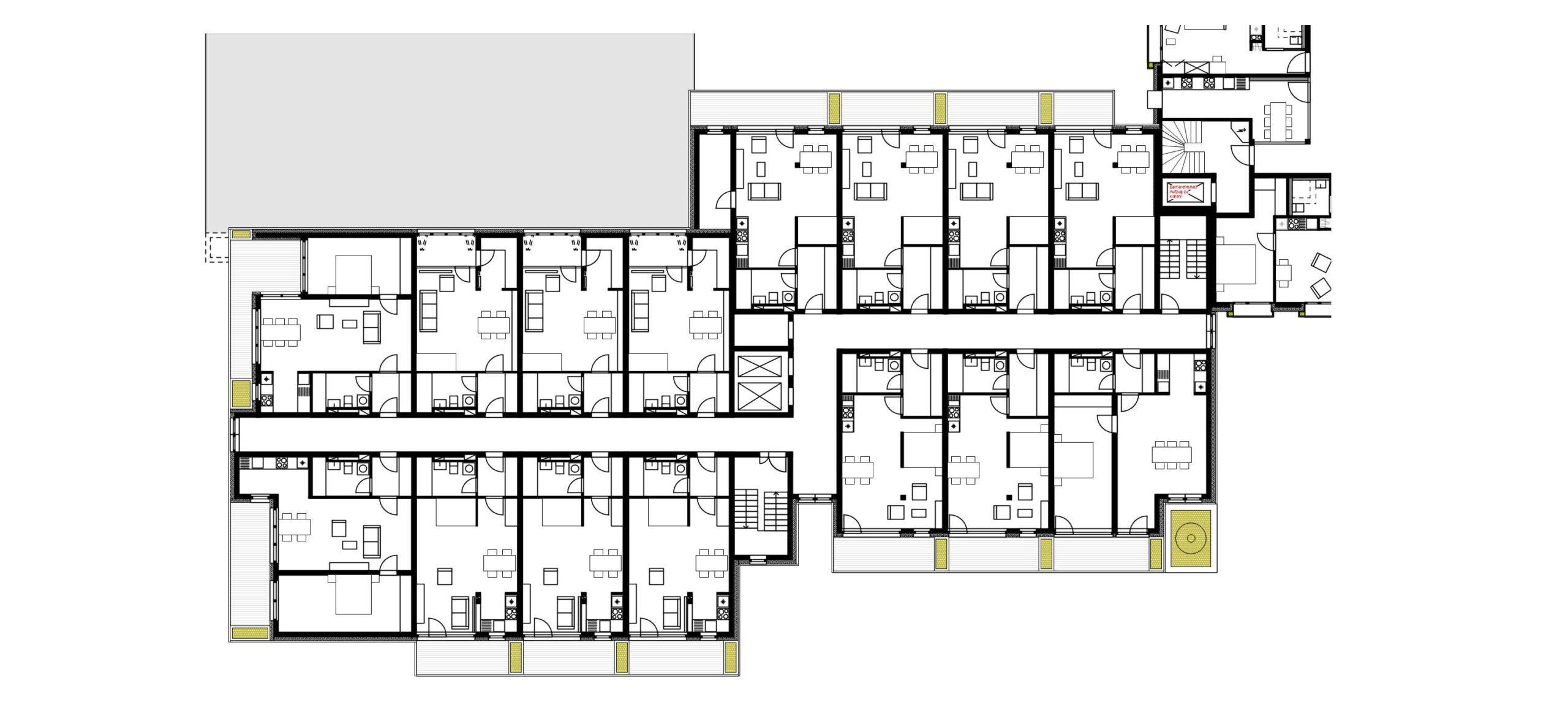 Projekt 377 Avrilléstraße Marktplatz Schwalbach Grundriss Regelgeschoss Wohnen FFM-ARCHITEKTEN