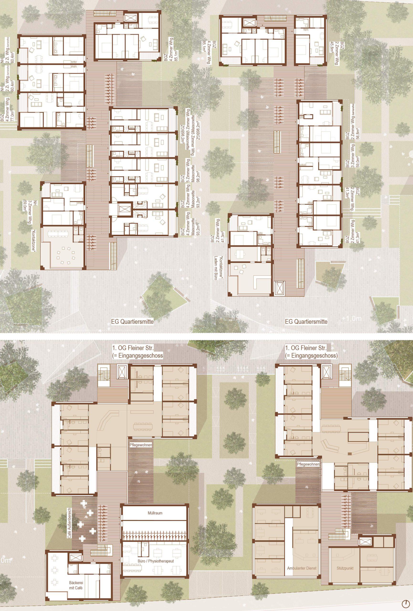 Lageplan 371 Quartier am Rotweg Stuttgart Rot FFM-ARCHITEKTEN